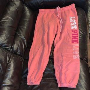 Women's size xtra small VS Pink Capri sweats